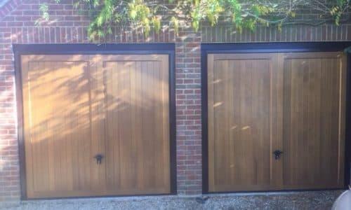 Timber Garage Door Double
