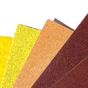 coloured sandpaper